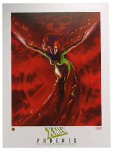 X-Men Dark Phoenix Lithograph by Joseph Michael Linsner Marvel Comics Xmen 2003