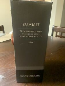 Simple Modern Summit Premium Insulated Wide Mouth Bottle Stainless Steel 40 Oz