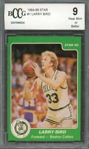Larry Bird Card 1984 85 Star #1 Boston Celtics 50 50 Centered BGS BCCG 9