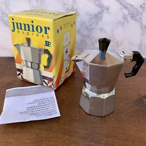 Junior Express Caffettiera Made in Italy Expresso Coffee Maker 1 with Box