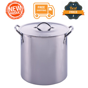 12 Quart Stainless Steel Stockpot with Lid Durable LARGE Kitchen Cookware, NEW