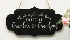 Personalized Wood Sign Grandparents Gift Walnut Wood Chalkboard Plaque  #27997