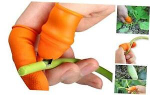 Fruit and Vegetable Picking Potted Plants Trim Silicone Thumb Knife Set 1