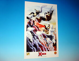 Classic X-Men Lithograph by Alex Ross Marvel Comics Beast Magneto Iceman 1999