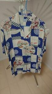 Sun Surf MUSASHI-YA SEKKU-DESIGN Rayon Size M Color NAVY SS31810 Men's USED