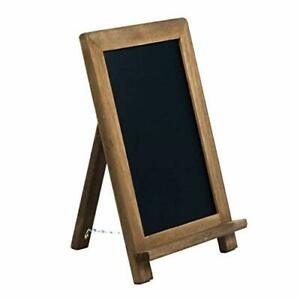 Small Rustic Table Top Chalkboard Easel Sign with Stand by VersaChalk - (Steel)