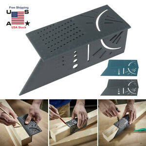 Woodworking 3D 4590 Degree Square Size Measure Carpenter's Ruler Hand Tool US $7.43