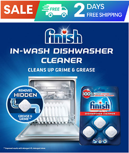 Finish In-Wash Dishwasher Cleaner Clean Hidden Grease and Grime, 3 ct