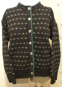 Womens REI Norwegian Crew Neck Cardigan Size Medium 8 10 Lusekofte