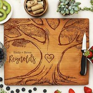 Personalized Cutting Board: 4 Choices of Wood amp; Custom Name Engraved #21256