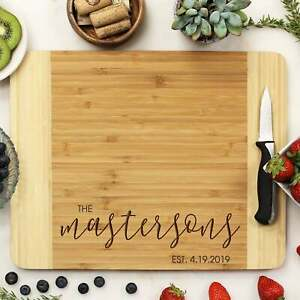 Personalized Cutting Board: 4 Choices of Wood amp; Custom Name Engraved #21263