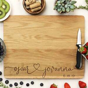 Personalized Cutting Board: 4 Choices of Wood amp; Custom Name Engraved #21254