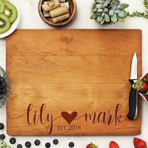 Personalized Cutting Board: 4 Choices of Wood amp; Custom Name Engraved #21250