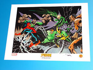 Spider-Man Sinister Six Lithograph Signed Jae Lee Marvel Comics Kraven Vulture