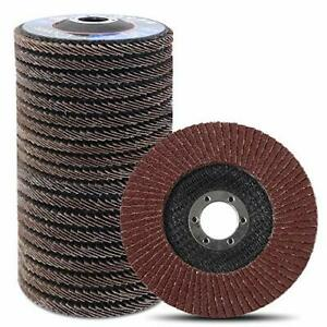 Coceca 20pcs Flap Discs Sanding Grinding Wheels 4-1 2 Inches for Angle Grinder