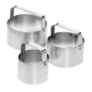 Round Biscuit Cookie Cutter Set Stainless Steel 3 Pcs Fox Run