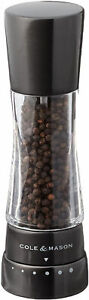 COLE and MASON Derwent Pepper Grinder  Gunmetal Mill Includes Gourmet and