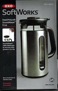 OXO Soft Works French Press with Grounds Keeper 8 Cup 34 Oz