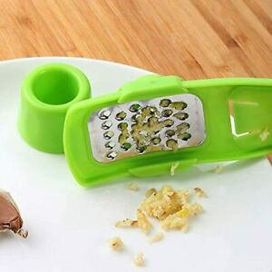 Garlic Ginger Grater Crusher - Stainless Steel Mincer and Crusher