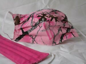Pink Realtree Handmade Face Mask Washable Reuseable