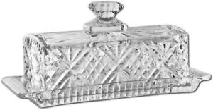 James Scott Crystal Butter Dish with Lid