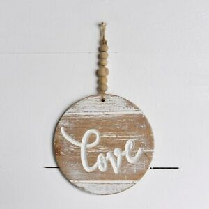 A Little Love Round Hanging with Beads