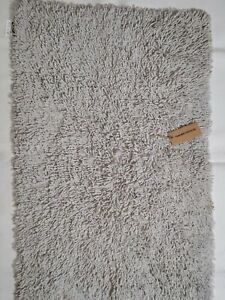 Bath mats Cotton Reversible Fast Absorbent Size 50x80 cm off white new Pk 2