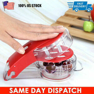 Cherry Pitter Pitt 6 Cherries at Once Cherries Pitter Seed Removing Tool Red USA