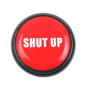 Novelty Shut Up Button Alarm Practical Joke Alert Fun Office Prank Desk Gag Gift