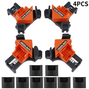 4Pc /Kit 90 Degree Right Angle Clip Clamps Corner Holder Woodworking Tool Useful