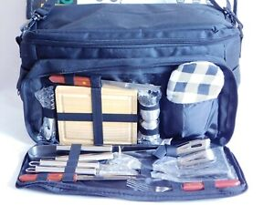 Complete Picnic/Tailgate BBQ Tool Set With Insulated Cooler Bag