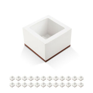 25Pack Cute Bakery Boxes for Cupcake Cookie Pastry Party Mini Cake Gift Box $17.99