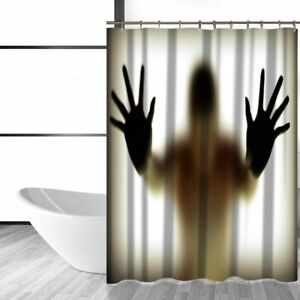 Miracille Blood Hand Shadow Printed Waterproof Polyester Shower Curtain Bloody