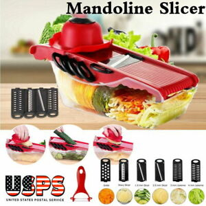Manual Vegetable Slicer Potato Fruit Cutter Stainless Mandoline Kitchen US STOCK