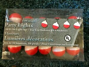 NEW FISHING BOBBER String Lights-10 bulbs 10 feet—party, novelty decorations