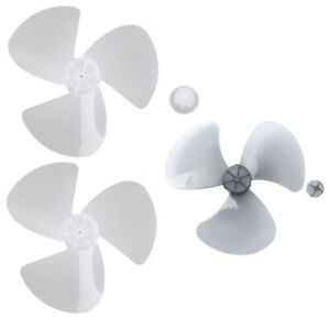 16Inch Plastic Fan Blade 3 Leaves with Fun Nut Pedestal/Table Fanner Replace Set