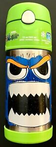 Thermos Funtainer With Monster Funny Face Design 12 Ounce