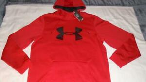 NEW Men's Size XL Under Armour Hoodie Sweatshirt RED COLDGEAR MSRP $55 NWT $22.94