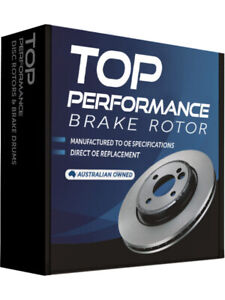 2 x Top Performance Brake Rotor FOR MITSUBISHI PAJERO NA TD234 AU $142.00