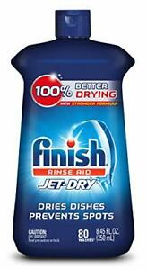 Finish Jet-Dry Rinse Aid, 8.45oz, Dishwasher Rinse Agent & Drying Agent, New USA