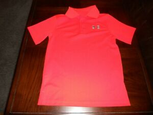Under Armour boys shirt size Y S youth small athletic MINT cond golf $12.00