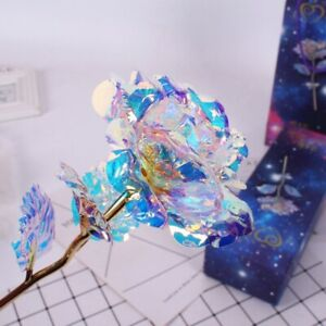 24K Gold Foil Rose Flower LED Galaxy Luminous Mother's Day Valentine's Day Gift