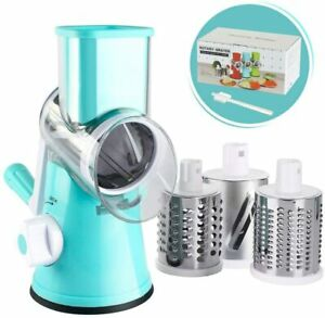Manual Rotary Cheese Grater, Round Mandoline Slicer, Vegetable Slicer Nuts