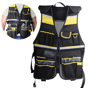 Electrician Carpenter Bag Tools Vest Framer Construction Adjustable Pouch Part