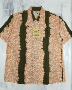 Sun Surf Hawaiian PAREU DESIGN 2005 Model SS32291 Brown Rayon Size M Men's New