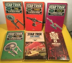 Lot of 6 Vintage Star Trek Log Del Ray Paperbacks Books by Foster