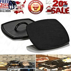 LARGE Flat Cast Iron Grill Press Bacon Steak Griddle Skillet Grilling Tool
