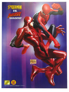 Spider-Man Vs Daredevil Lithograph Alex Ross and Joe Quesada Art Marvel Comics