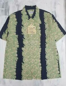 Sun Surf Hawaiian PAREU DESIGN 2005 SS32291 Color Green Rayon Size M Men's New