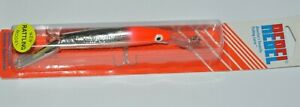 rebel minnow deep jointed rattling minnow trolling flo red chrome approx 6quot;
